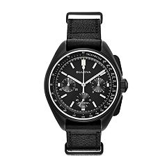 Bulova Men's Special Edition Lunar Pilot Leather Chronograph Watch - 98A186