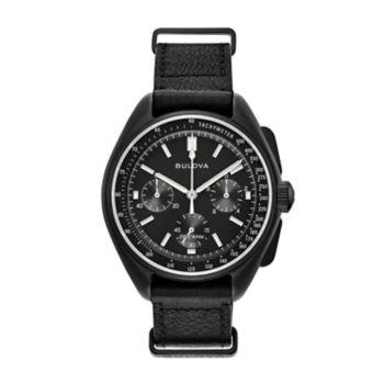 Bulova Men's Special Edition Lunar Pilot Leather Chronograph Watch - 98A186