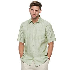 Big & Tall Havanera Classic-Fit Woven Two-Pocket Linen-Blend Button-Down Shirt