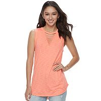 Juniors' SO® Strappy Tank