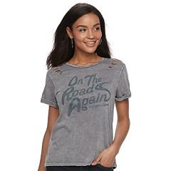 Juniors' Willie Nelson 'On The Road Again' Tee