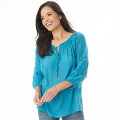 Women's Apt. 9® Crochet Peasant Top