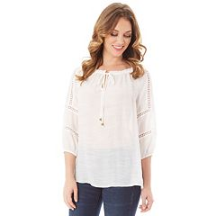 Women's Apt. 9® Crochet Peasant Top