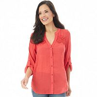 Women's Apt. 9® Embroidered Blouse