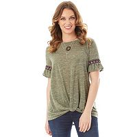 Women's Apt. 9® Ruffle Knot Top