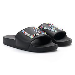 Candie's® Women's Star Stud 'LOVE' Slide Sandals
