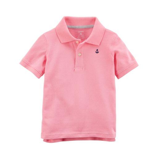 Boys 4-8 Carter's Solid Pastel Polo Shirt