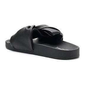 best place online buy online with paypal Candie's® Women's Twisted Bow ... Slide Sandals under $60 online visa payment online free shipping fashionable wj7atsPN
