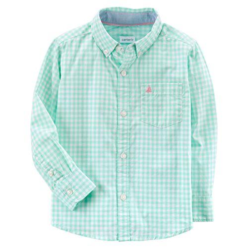 Boys 4-8 Carter's Plaid Button-Down Shirt