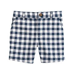 Boys 4-8 Carter's Gingham Plaid Flat Front Shorts