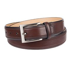 Men's Croft & Barrow® Double-Row Stitch Belt