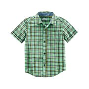 Boys 4-8 Carter's Woven Plaid Button-Down Shirt