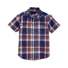 Boys 4-8 Carter's Woven Plaid Button-Down Shirt