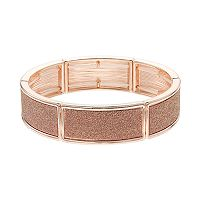 Rose Gold Tone Glitter Stretch Bracelet