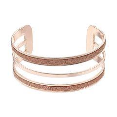 Glitter Multi Row Cuff Bracelet
