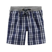 Boys 4-8 Carter's Plaid Pull-On Shorts