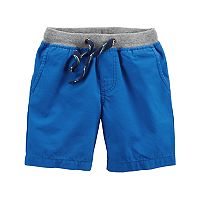 Boys 4-8 Carter's Ribbed Waist Blue Shorts