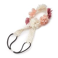 Girls 4-16 Lace Flower Headwrap