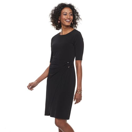 Womens Dana Buchman Faux Wrap Dress
