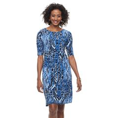 Women's Dana Buchman Faux-Wrap Dress