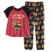 Girls 6-12 Harry Potter, Ron Weasley & Hermione Granger Top & Bottoms Pajama Set