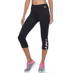 Women's FILA SPORT® Reflective Strappy Hem Capri Leggings