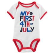 "Baby Carter's ""My First 4th of July"" Slogan Bodysuit"