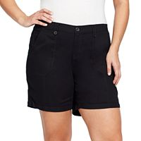 Plus Size Gloria Vanderbilt Cathy Cargo Shorts