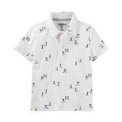 Boys 4-12 OshKosh B'gosh® Patterned Polo Shirt