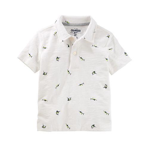 2f8387a5 Boys 4-12 OshKosh B'gosh® Patterned Polo Shirt