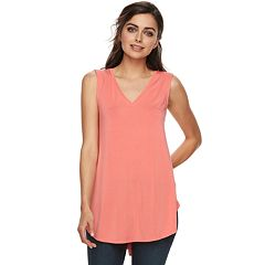 ee054824ad0 Sale Womens Pink Apt. 9 V-Neck Tank Tops Shirts & Blouses - Tops ...