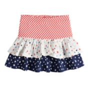 Girls 4-10 Jumping Beans® Tiered Tulip Americana Skort