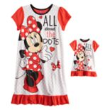 "Disney's Minnie Mouse Girls 4-8 ""All About the Dots"" Nightgown & Doll Gown Set"