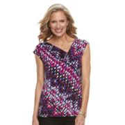 Women's Dana Buchman Asymmetrical Pleat Top