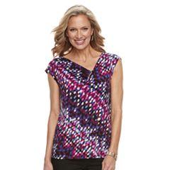 Women's Dana Buchman Asymmetrical Pleat Top