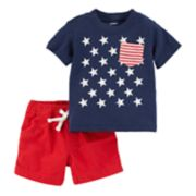 Baby Boy Carter's Patriotic Tee & Solid Shorts Set