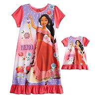 Disney's Elena of Avalor Girls 4-8 Nightgown & Doll Gown Set
