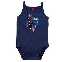 Baby Girl Carter's 'Hooray For The USA' Fireworks Bodysuit