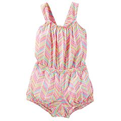 Baby Girl OshKosh B'gosh® Chevron Romper