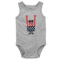 Baby Boy Carter's American Flag Sleeveless Bodysuit