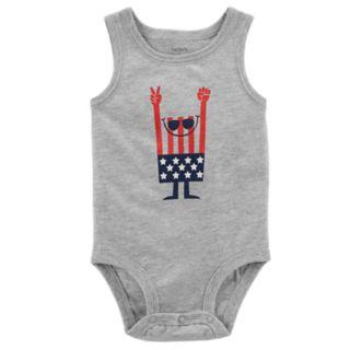 Baby Boy Carter's American Flag Sleeveless Bodysuit