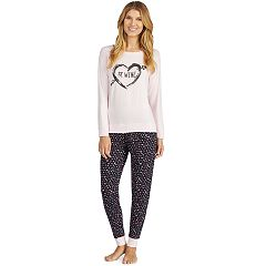 Women's Cuddl Duds Graphic Jogger Pajama Set