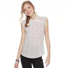 Juniors' HeartSoul Print Flutter Sleeve Top