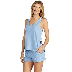 Women's Cuddl Duds Weekend Getaway Swing Tank & Boxer Shorts Pajama Set