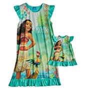 Disney's Moana Dorm Nightgown & Doll Nightgown Set