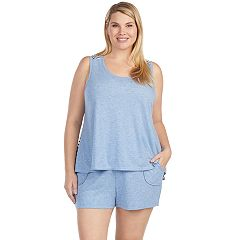 Plus Size Cuddl Duds Weekend Getaway Swing Tank & Boxer Shorts Pajama Set