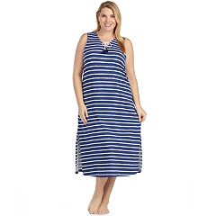 Plus Size Cuddl Duds Weekend Getaway Pajama Maxi Dress