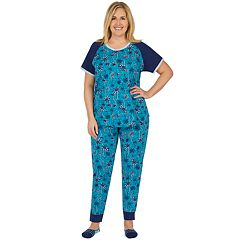 Plus Size Cuddl Duds Graphic Tee & Jogger Pajama Set