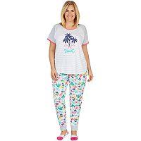 Plus Size Cuddl Duds Graphic Tee & Jogger Pajama Set