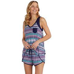 Women's Cuddl Duds Printed Tank & Boxer Shorts Pajama Set